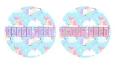 Unicorn Happy Post glossy stickers / Packaging stickers / Custom stickers