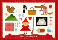 All you need to know about Little Red Riding Hood. LOVE the womb scan of floating grandma