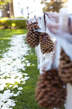 Pine Cone Wedding Aisle Markers More