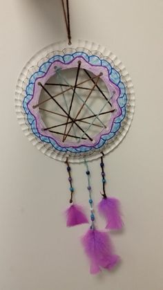 Dream catchers tinker with children - 27 ideas to imitate Let the kids do something at the pirate party that they can take home with them. How about these beautiful dream catchers? You can find more suitable . Diy For Teens, Crafts For Teens, Diy For Kids, Diy And Crafts, Crafts For Kids, Arts And Crafts, Dream Catcher For Kids, Indian Diy, Beautiful Dream Catchers