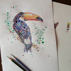 Watercolor_Portraits_Of_Animals_Created_With_Hundreds_of_Multicolored_Dots_by_Ana_Enshina_2015_03