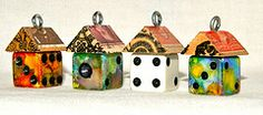 Funky Little Dice House Birdhouse Charms!