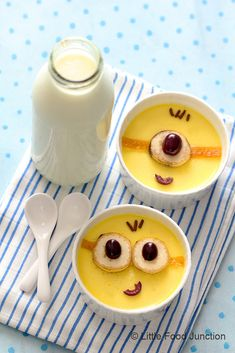 Minion Baked Yogurt- super easy to make & so much fun to eat !!