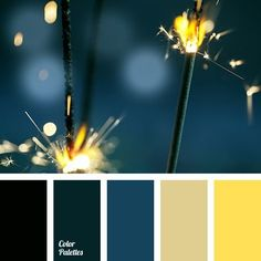color pallet for Living room! Walls blue. Furniture Black. Curtains either the yellow or the green. (prob yellow)