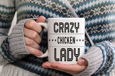 Crazy Chicken Lady Mug Backyard Chickens, Gift Ideas by NannyGoatsCloset
