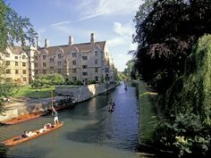 Punting on the Backs, Cambridge, England Photographic Print