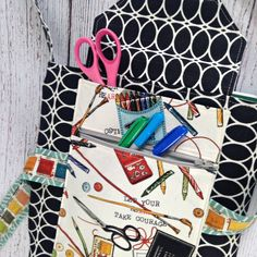 Carry On & Color.  Double pockets on the outside for even more storage. #coloringbag #coloring
