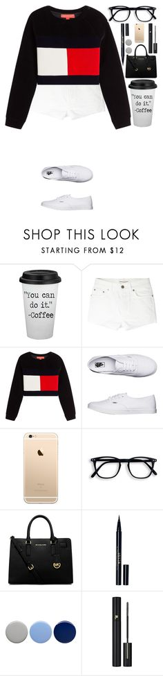"""""""Untitled #430"""" by dutchfashionlover ❤ liked on Polyvore featuring Yves Saint Laurent, Hilfiger Collection, Vans, MICHAEL Michael Kors, Stila, Burberry and Lancôme"""