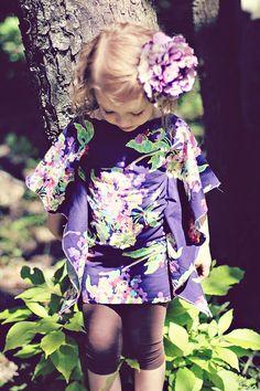 Little girls Kaftan dress.
