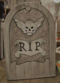 Spooky Blue's Halloween Tombstones tutorial