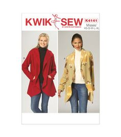 Kwik Sew K4141-Misses' Jackets-All Sizes In One Envelope (Xs - Xl)