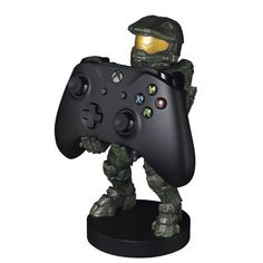 Cable Guys Phone & Controller Holder - Halo Master Chief Cable Guys Phone and Controller Holder - Halo Master Chief Color: MultiColored. Boys Game Room, Gamer Bedroom, Halo Master Chief, Halo Game, Video Game Rooms, Xbox Controller, Gaming Room Setup, Game Room Design, Consoles