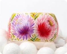 Dolce Primavera bracelet Hand Painted Jewelry by lovelytrifles
