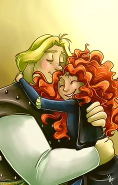 Brave - Young Macguffin and Merida #fanart