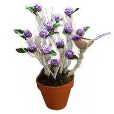 Muharos kosár - Szárazvirág díszek webáruház Planter Pots, Lilac