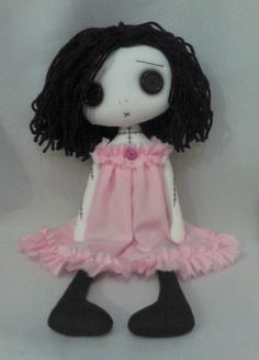 Hey, I found this really awesome Etsy listing at https://www.etsy.com/listing/175845901/gothic-art-rag-doll-katy-the-lonely