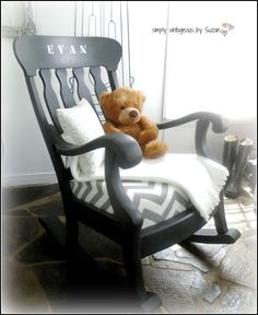 Wooden rocking chairs, Rocking chairs and Rocking chair makeover