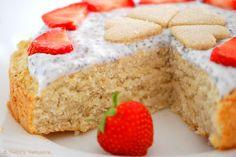 Patce's Patisserie: Kleiner Kokoskuchen mit Joghurt-Chia-Topping [Ohne Haushaltszucker, Butter und Ei]