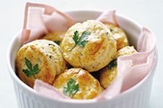 Add a special touch to your table with these simply delicious biscuits - the parsley garnish adds an elegant touch.