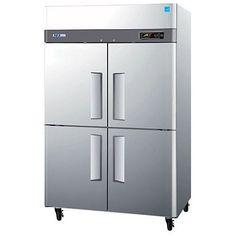 "Turbo Air M3R47-4 52"" M3 Series Four Half Door Reach In Top Mount Refrigerator - 47 Cu. Ft."