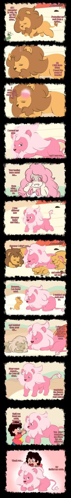 Steven Universe_-_Lion Comic by ProjectHalfbreed on DeviantArt