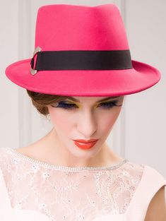1b0aaf9237919 Ribbon Wool Floppy Trilby Felted Fedora Hat