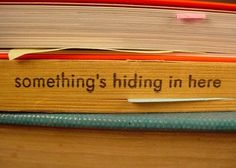There is always something to be found in books! #discover #reading #books