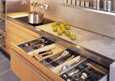 Awesome organized custom kitchen drawer