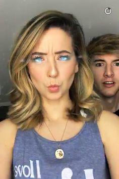 ~Zoe and Mark~ Mark Ferris, Zoe Sugg, Zoella, Girl Online, New Hair, Youtubers, Snapchat, Pretty, English