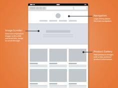 Responsive Wireframes psd gratis layout skabelon web