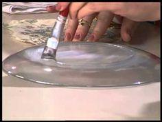 Dica de Artesanato - Pratos Decorados - YouTube