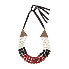 Zeus + Dione Nefeli silk necklace found on Polyvore featuring jewelry, necklaces, red multi, heart jewelry, wrap necklace, silk necklace, triangle jewelry and bohemian necklaces