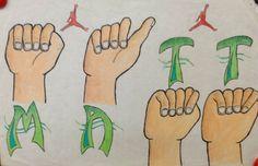 art inklings: Drawing Hands- using American Sign Language