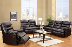 Arcadia Power Motion Brown Recliner 50940
