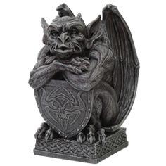 Librarian Bookworm Nerd Guardian Gargoyle Figurine Desktop Statue Collectible