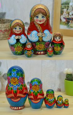 handpainted matryoshka Matryoshka Doll, Kokeshi Dolls, Wood Peg Dolls, Russian Folk Art, Diy Doll, Doll Accessories, Beautiful Dolls, Paper Dolls, Hand Painted