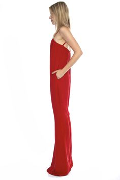 JERRY JUMPSUIT- RED | Stone Cold Fox