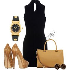 """Black dress"" by dgia on Polyvore"