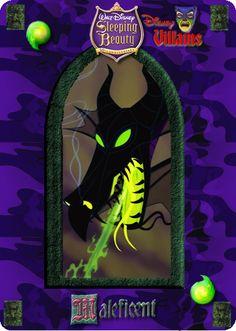 Maleficent [as a dragon] (Cards by Maleficent84 @deviantART) #SleepingBeauty