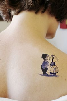 Temporary tattoo with Dutch copple in 'Delfts Blauw' by Tattoorary, $6.00