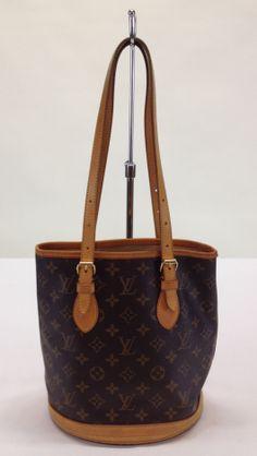 Louis Vuitton Monogram Canvas 'Petit Bucket' Shoulder Bag