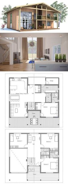 Container Homes Plans - plan de petite maison Who Else Wants Simple Step-By-Step Plans To Design And Build A Container Home From Scratch? Small Floor Plans, Modern Floor Plans, Modern House Plans, Small House Plans, Modern House Design, House Floor Plans, Building A Container Home, Container House Plans, Container Homes