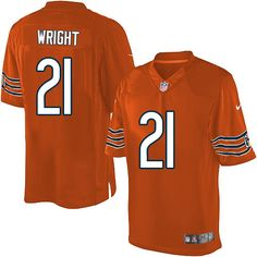 $89.99 Men's Nike Chicago Bears #21 Major Wright Limited Alternate Orange Jersey