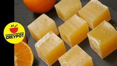 Orange Turkish Delight | Orange Lokum | No Artificial Colour | No Gelati... Nougat Recipe, Turkish Sweets, Melt In Your Mouth, Turkish Delight, Orange Zest, Artificial, Fudge, Treats, Snacks