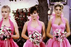 "Jennie Garth, Shannen Doherty, and Tori Spelling in Season 2 of ""Beverly Hills, 90210"""
