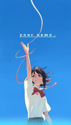 君の名は Your Name. Illustration drawn by the movie's character designer Tanaka Masayoshi. Now Shinkai's phone background (links in comments). Kimi No Na Wa Wallpaper, Name Wallpaper, Couple Wallpaper, Pelo Anime, Manga Anime, Sailor Moon, Film Animation Japonais, Persona Anime, Kuroko