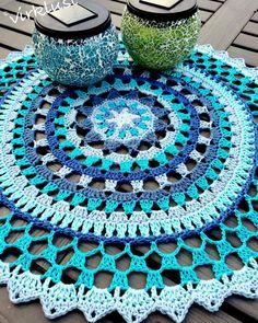 Ravelry: Starry Mandala pattern by Karin Åshammar/Virklust Motif Mandala Crochet, Crochet Circles, Crochet Doily Patterns, Granny Square Crochet Pattern, Thread Crochet, Crochet Designs, Crochet Doilies, Crochet Yarn, Crochet Gifts