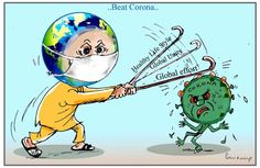 Global effort to beat CoronaVirus. See also: Coronavirus triggers a global economic crisis. More The post Beat Corona first appeared on Toons Mag and is written by B V Panduranga Rao. Nurse Art, Kolam Rangoli, Poster Drawing, Social Awareness, Science Art, Poster On, Kids Education, Diy Cards, Activities For Kids