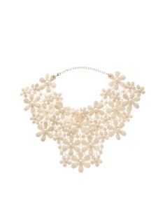 ASOS Lace and Pearl Bib Necklace
