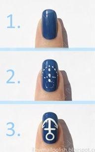 Easy, how to do anchor nail polish